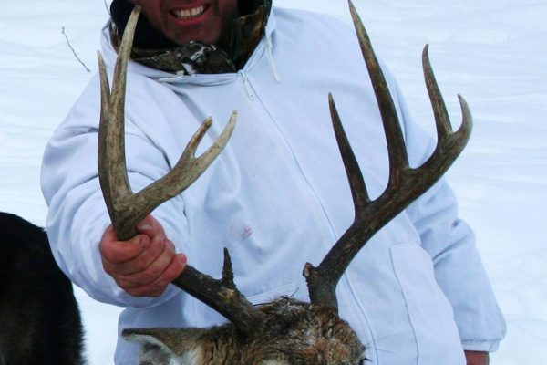 David's fighter White Tail Deer Buck at Elusive Saskatchewan Whitetail Outfitter