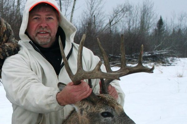 Dean's White Tail Deer Buck with drops at Elusive Saskatchewan Whitetail Outfitter