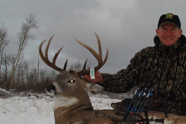 First Archery buck of 2012 Whitetail season at Elusive Saskatchewan Whitetail Outfitter