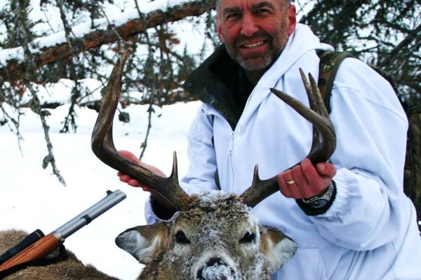 Gary had an adventure with this White Tail Deer Buck at Elusive Saskatchewan Whitetail Outfitter