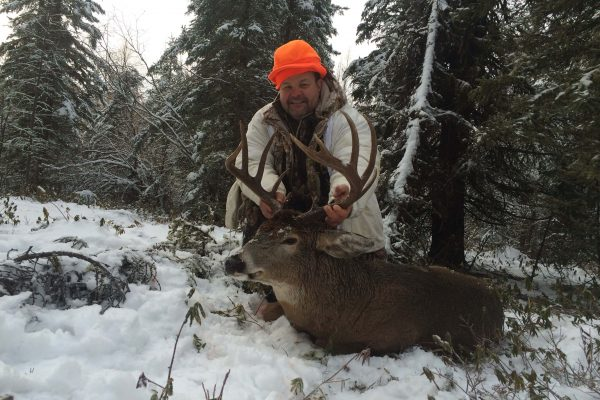 Geye tags a nice Saskatchewan Whitetail Buck