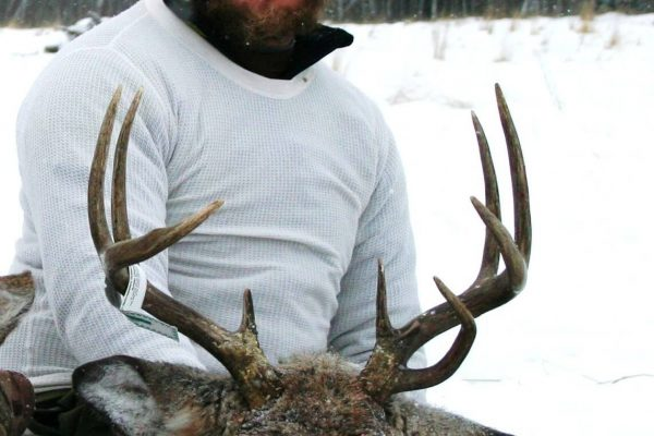 Jordan's double beam White Tail Deer Buck at Elusive Saskatchewan Whitetail Outfitter